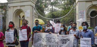 Visva Bharati student protest