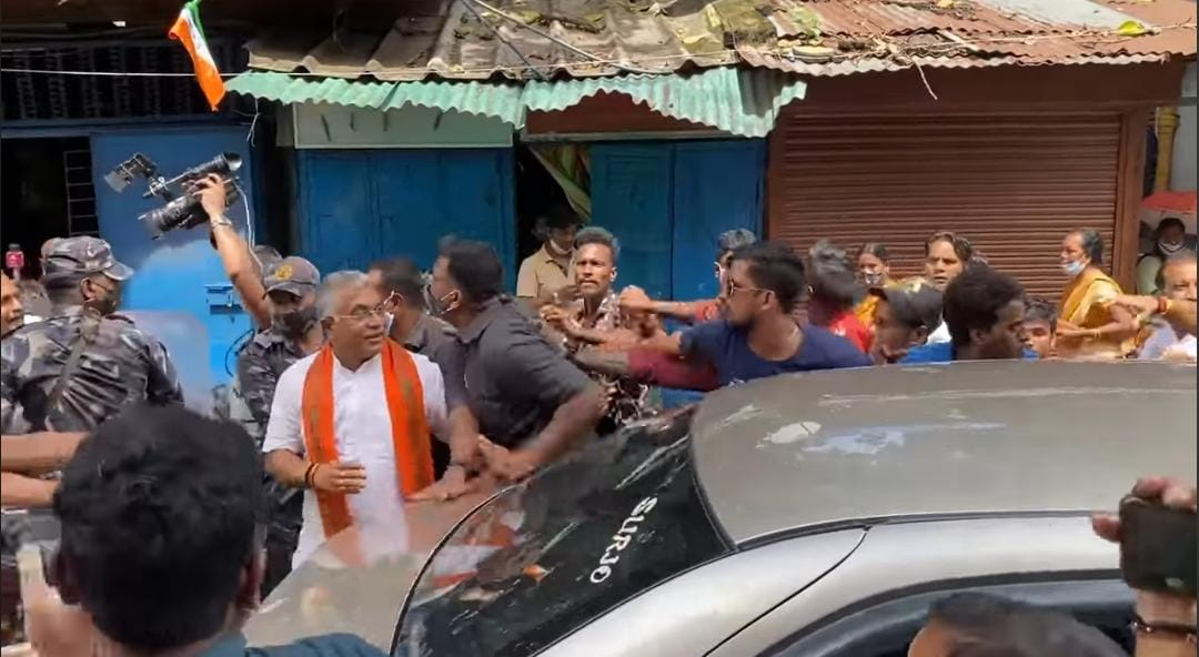 Attack on Dilip Ghosh