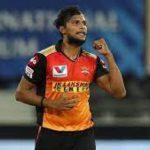 SRH player T Natarajan