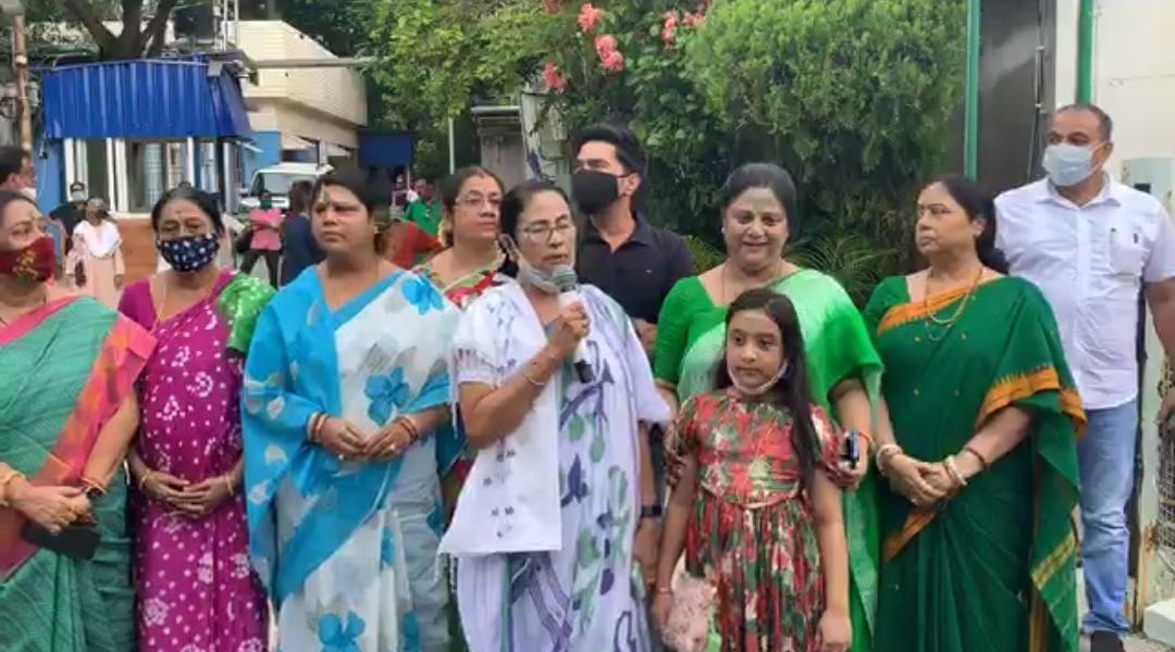 Mamata Banerjee at kalighat